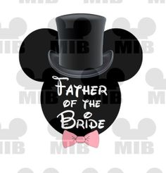 Disney Wedding FATHER of the BRIDE  Printable Image by MiceInBlack, $4.50