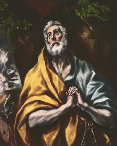 """El Greco, """"The Repentant St. Peter,"""" 1600-1605 or later,"""