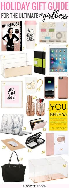 Holiday Gift Guide Best Christmas Gifts For The Ultimate Girl Boss Glossy. Holiday Gift Guide Best Christmas Gifts For The Ultimate Girl Boss Glossy Belle Boss Birthday Gift, Birthday Presents For Girls, Diy Birthday, Husband Birthday, Birthday Ideas, Birthday Nails, Girls Presents, Happy Birthday, Birthday Recipes