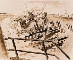 ART & ARTISTS: Thomas Hart Benton - part 4 WWII Submarine Museum, American Realism, Social Realism, Ink Wash, Painters, Wwii, Illustrators, Oil On Canvas, Modern Art