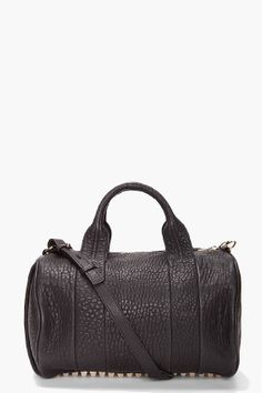 Alexander Wang Black Rocco with rose gold hardware.