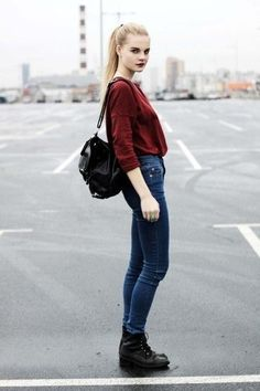 bambi, beautiful, boots, combat boots, fashion, girl, grunge, hair, hippie, hipster, indie, inspiration, jeans, love, model, outfit, parking lot, pastel grunge, ponytail, street style, teen, teenager, pale grunge