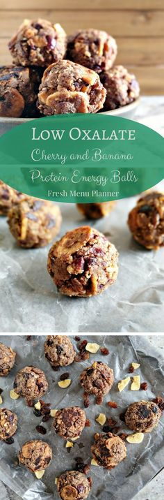 These protein balls are low oxalate with is perfect for those prone to kidney stones.  There are cherries and bananas and they taste amazing!  Check it out!