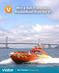 Looking for some thrill on your next #vacation to #SanFrancisco? Enter our #giveaway for a chance to win a RocketBoat Ride for 2!