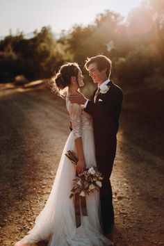brittany + luke | Amelie Gown by Watters for BHLDN | image via: junebug weddings | #BHLDNbride
