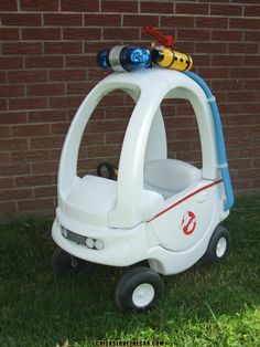 Ghostbusters Cozy Coupe...wish I would have held on to ours so Lady H could have had her own Ecto1--not sure her parents are old enough to appreciate this bad boy!