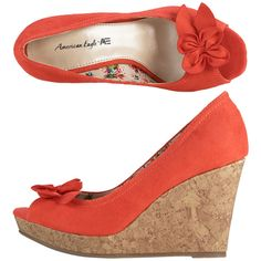 Womens American EagleWomen's Kylene Peep Toe Wedge
