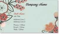 botanical floral Standard Business Cards