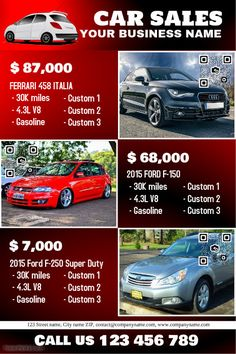 41 Best Car Dealer Flyer DIY Images Poster Automobile