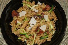 Zoodles Carbonara w/Garlic Scape Pesto - YUM!