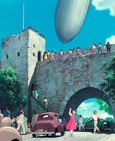 "ghibli-collector: ""Vertical Pan Shots - Kiki's Delivery Service (1989) """