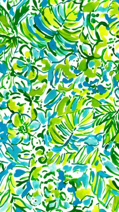 Let there be silence while this Lilly Pulitzer print does the talking : Green Parrot.