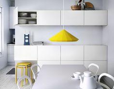 suspension avec abat jour jaune httpwwwikeacomfr - Cuisine Marron Ikea