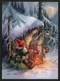 diy christmas gifts, smores christmas gift, teacher christmas gifts – All For Christmas Scandinavian Art, Scandinavian Christmas, Christmas Gnome, Christmas Art, Christmas Gifts, Christmas Illustration, Illustration Art, Elves And Fairies, Vintage Christmas Cards