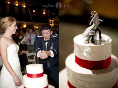 Military Weddings  |  Funny Wedding Pictures  |  Cake cutting  |  Wedding cakes  |  Cake toppers  |  Swords  |  Aislinn Kate  I Pensacola Wedding Photographer