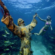 Places To Visit @visitpics Instagram photos | Websta  Christ of The Abyss, Florida, Keys, United States