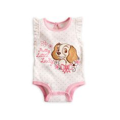 Lady Disney Cuddly Bodysuit for Baby Lady and the Tramp (140 ARS) ❤ liked on Polyvore featuring baby, baby girl, babies., baby clothes and baby girl clothes