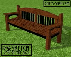 This beefy bench features a 6-foot interior span and will last for years. It's designed to be built with 4 x 4s, 2 x 4s, and 2 x 2s.