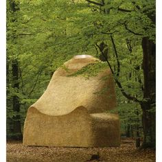 Martin Puryear, Meditations in a Beech Wood, 1996, water reed thatched over a timber frame  16 feet tall  Collection: Wanas Foundation, Knislinge, Sweden