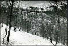 ROCCARASO (L AQUILA) CON GLI SCI SULLA NEVE-VECCHIA FOTO D EPOCA/OLD PHOTO-1950
