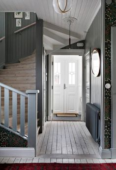 my scandinavian home: The Beautiful House of a Swedish Creative entry with oodles of charm Oval Room Blue, 1920s House, Swedish House, Scandinavian Home, Stairways, Farmhouse Style, Interior Decorating, New Homes, House Ideas