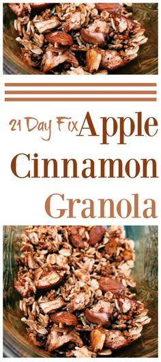 21 Day Fix Apple Cinnamon Granola #21dayfixrecipes #21dayfixsnacks…