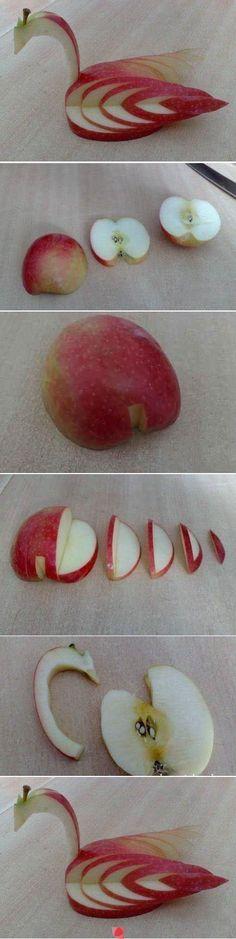 Apple food art - a Bird                                                                                                                                                                                 More
