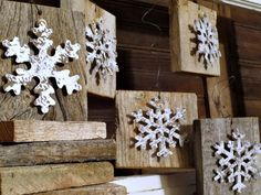 Easy DIY | Snowflake Wood Christmas Ornaments