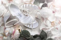 One of the latest additions to the #Wedding Collection, the Stephanie is a beautiful and elegant strappy sandal made of off-white satin and given a little extra sparkle with a beautiful diamante buckle. #Bride #fashion #shoe #madeinengland