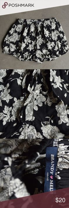 Brandy Melville Floral Shorts Flowy shorts, good condition Brandy Melville Shorts