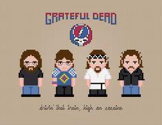 Grateful Dead - PixelPower - Amazing Cross-Stitch Patterns http://www.pixelpowerdesign.com/shop/music/product/show/413-grateful-dead