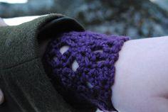 Purple Lace Cuff Bracelet by MaBsBoutique on Etsy, $12.00