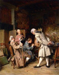 The Painting Connoisseurs (Jean-Louis Ernest Meissonier - 1860)