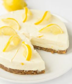 Lemon crunch cheesecake is a delicious no bake cheesecake recipe. It's simple, low cost and easy to make. All it requires is time to set in your fridge.