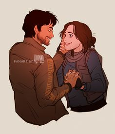 Jyn Erso and Cassian Andor by Johanna the Mad - Rogue One #starwars #fanart
