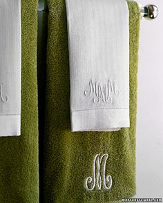 Monogrammed towels are always nice.