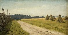 View Sheaves by a country road By Isaak Levitan; oil on canvas mounted on cardboard; 12 X 21cm; Signed; . Access more artwork lots and estimated & realized auction prices on MutualArt.