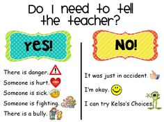 Do I need to tell the teacher? (kelso's Choice http://3.bp.blogspot.com/-srmmF5x_7XU/UEvdcPO3X2I/AAAAAAAAAa8/FCb_UVRK3xo/s1600/kelsos_wheel.png)