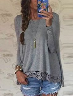 Elegant Long Sleeves Lace Crochet T-Shirt. Yours is here: https://ecolo-luca.com/collections/tshirt/products/elegant-long-sleeves-lace-crochet-t-shirt