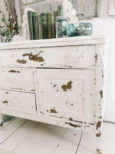 Chippy White Dresser with Salt Wash |