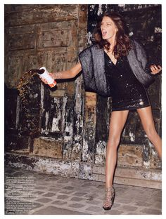 sequins. legs. McD's coke. rowdy.