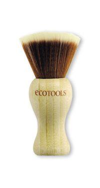 EcoTools Finishing Kabuki Brush ... Incredibly soft bristles made of synthetic taklon, handle made of bamboo & recycled aluminum ferrules.
