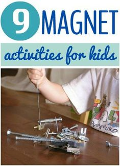 MAGNETISMO: Fun ideas for Magnet Play at Home including art, free play and more. Science Activities For Kids, Kindergarten Science, Science Experiments Kids, Elementary Science, Science Classroom, Science Fair, Science Lessons, Teaching Science, Science Projects