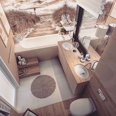 Bath room design small chic toilets ideas for 2019 Bathroom Design Luxury, Bathroom Design Small, Bathroom Layout, Bath Design, Bad Inspiration, Bathroom Inspiration, Beige Bathroom, Modern Bathroom, Bad Styling