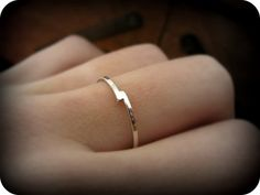 Bypass ring recycled sterling silver ring silver by LeCubicule
