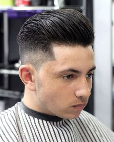 Galerry pompadour haircut round face