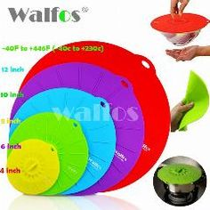 [ 25% OFF ] Silicone Cookware Pot Lid Cover For Pan /pot Flower Shape Spill Stopper Cooking Tools 2016 New Hot Stretch Silicone Cover