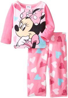 Disney Baby Girls' Minnie Micro Fleece Two Piece Pajama Set Disney Girls, Baby Disney, Lazy Day Outfits, Kids Outfits, Disney Outfits, Disney Clothes, Fleece Pajamas, Girls Pajamas, My Baby Girl