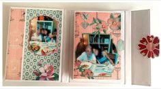 Mini album en acordeón, una forma sencilla de tener agrupadas y guardadas nuestras fotografías de las vacaciones. #minialbumscrap #minialbumacordeon #albumesenacordeon