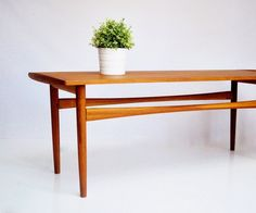 Mid-Century Hand-Crafted Coffee Table on Etsy, $460.00